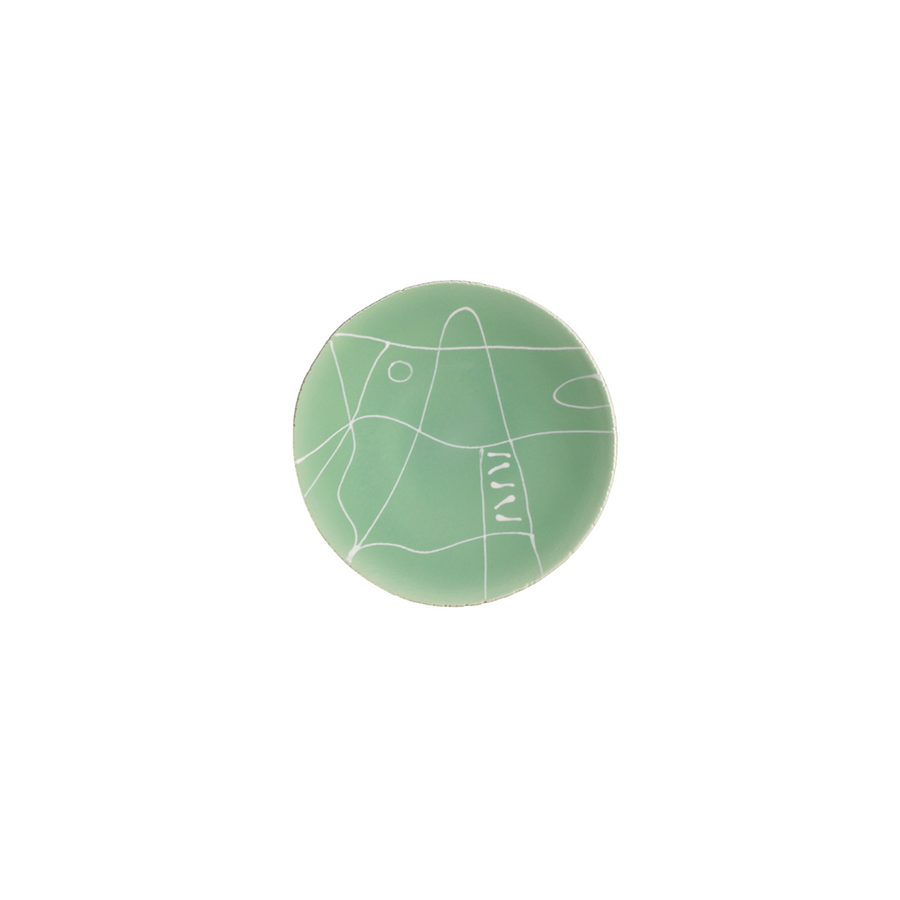 Agnes Sandahl | Abstract Appetizer/Dessert Plate in Light Green (Mono)