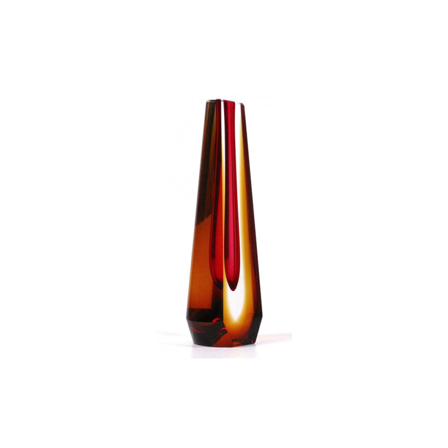 Pavel Hlava | Amber and Red Sommerso Vase (2nd Edition)