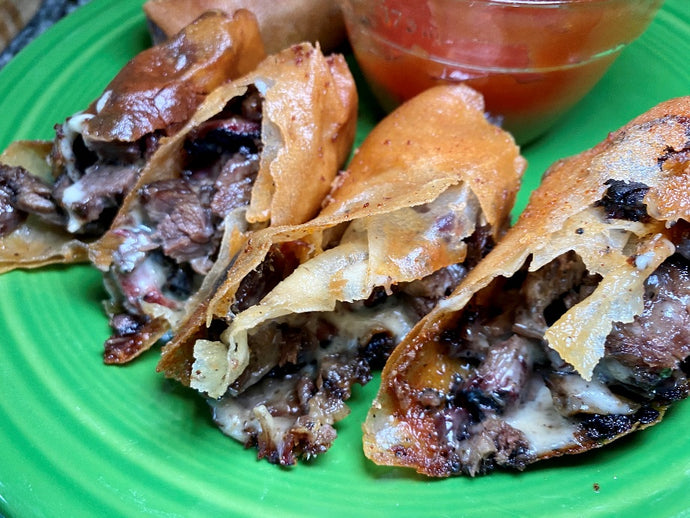 Wagyu Cheesesteak Spring Rolls
