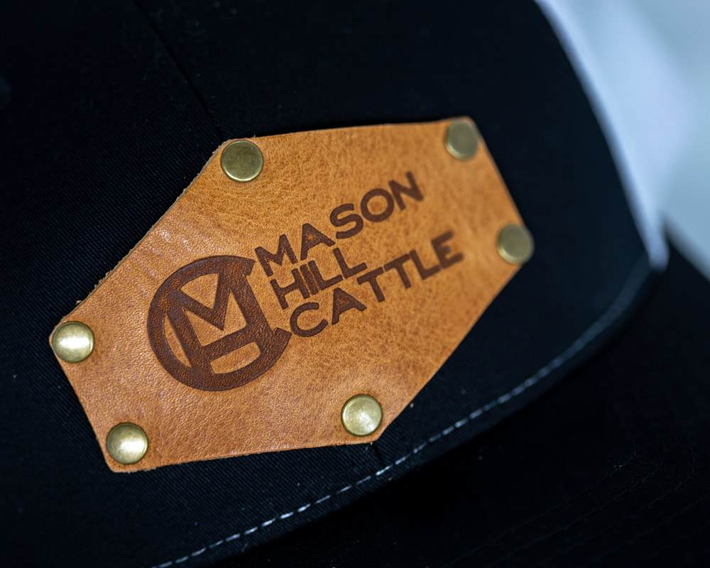 Mason Hill Cattle Branded Leather Patch Hat - Diamond