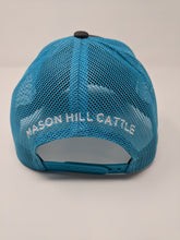 Load image into Gallery viewer, Turquoise Mason Hill Cattle Wagyu Beef Snap Back Hat