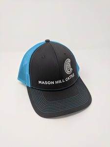 Turquoise Mason Hill Cattle Wagyu Beef Snap Back Hat
