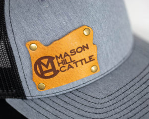 Mason Hill Cattle Branded Leather Patch Snapback Hat - Oregon