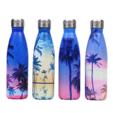 Creative Floral Thermos - Steel Water Bottle