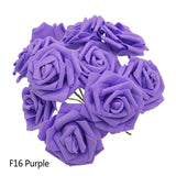 Artificial Rose Flowers 25 Heads x 8 cm