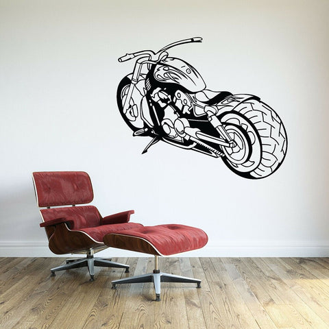 Sticker Mural Moto Chopper - Motard Passion