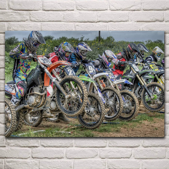 Tableau Course Moto Cross - Motard Passion