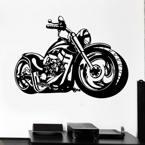 Sticker Mural Moto Custom - Motard Passion