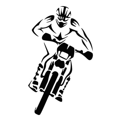 Sticker Voiture Moto Cross - Motard Passion