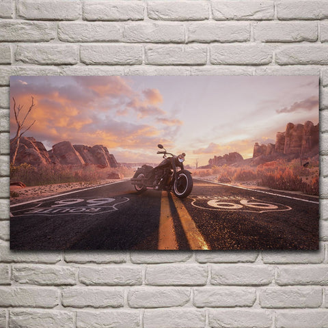 Tableau Moto Route 66 - motardpassion