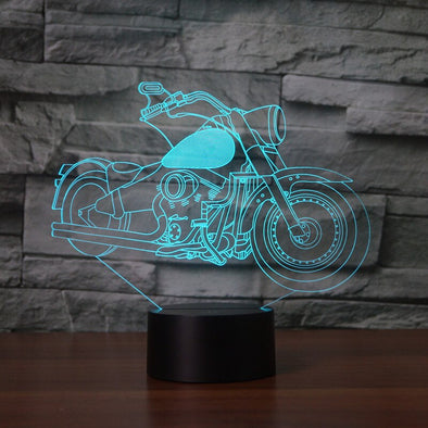 Lampe LED 3D Moto Harley  Motard Passion
