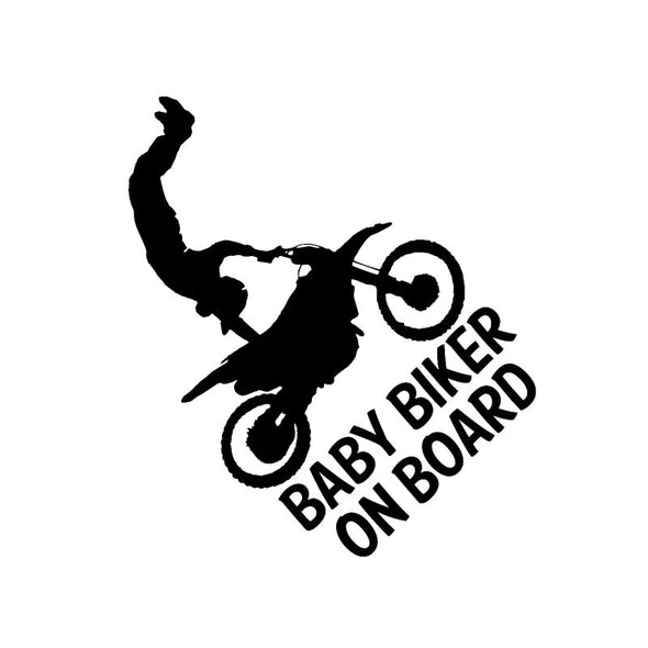 "Sticker Voiture ""Baby on board"" Moto Cross - Motard Passion"