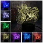 Lampe LED 3D Moto Sportive - motardpassion
