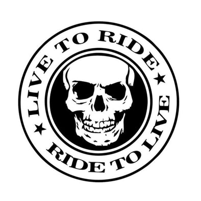 "Sticker ""Live to ride""  Motard Passion"