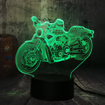 Lampe LED 3D Moto Custom - motardpassion