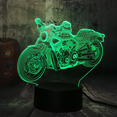 Lampe LED 3D Moto Custom - Motard Passion