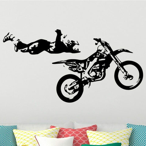 Sticker Mural Moto Freestyle - Motard Passion