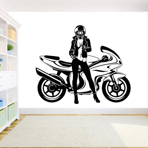 Sticker Mural Motarde Sexy - Motard Passion