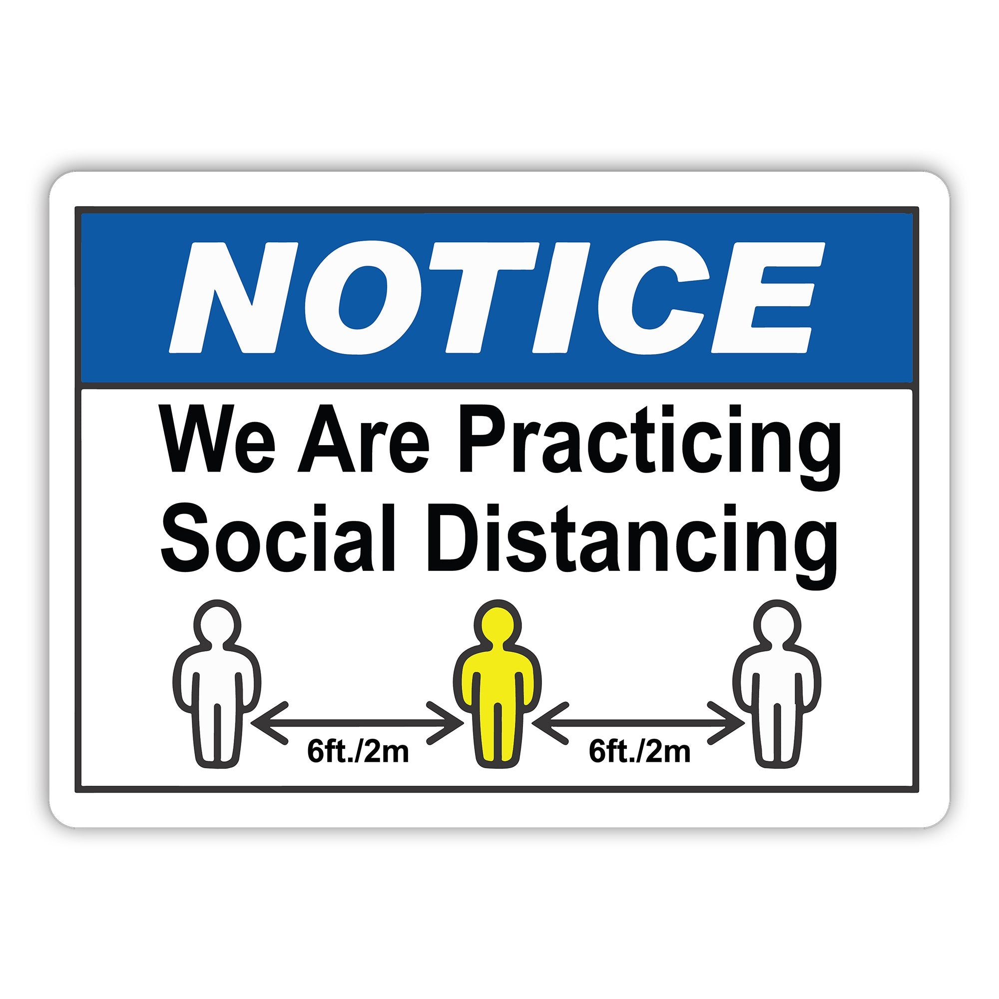 Social Health Awareness Etiquette Signs - Pack of 5