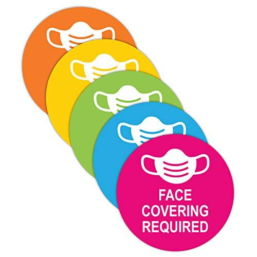 "Social Health Awareness Sign ""Face Coverings"" - Pack of 5"