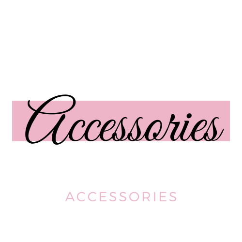 Accessories In Pink And White