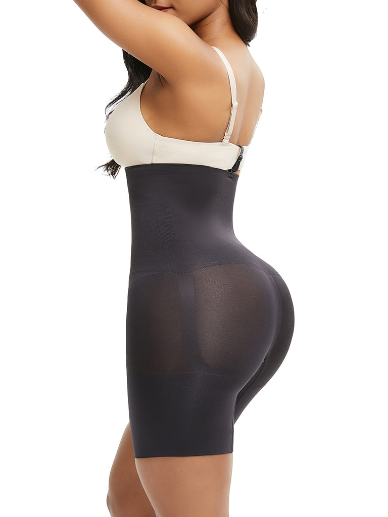 Extra High Waist Open Bust Seamless Body Suit