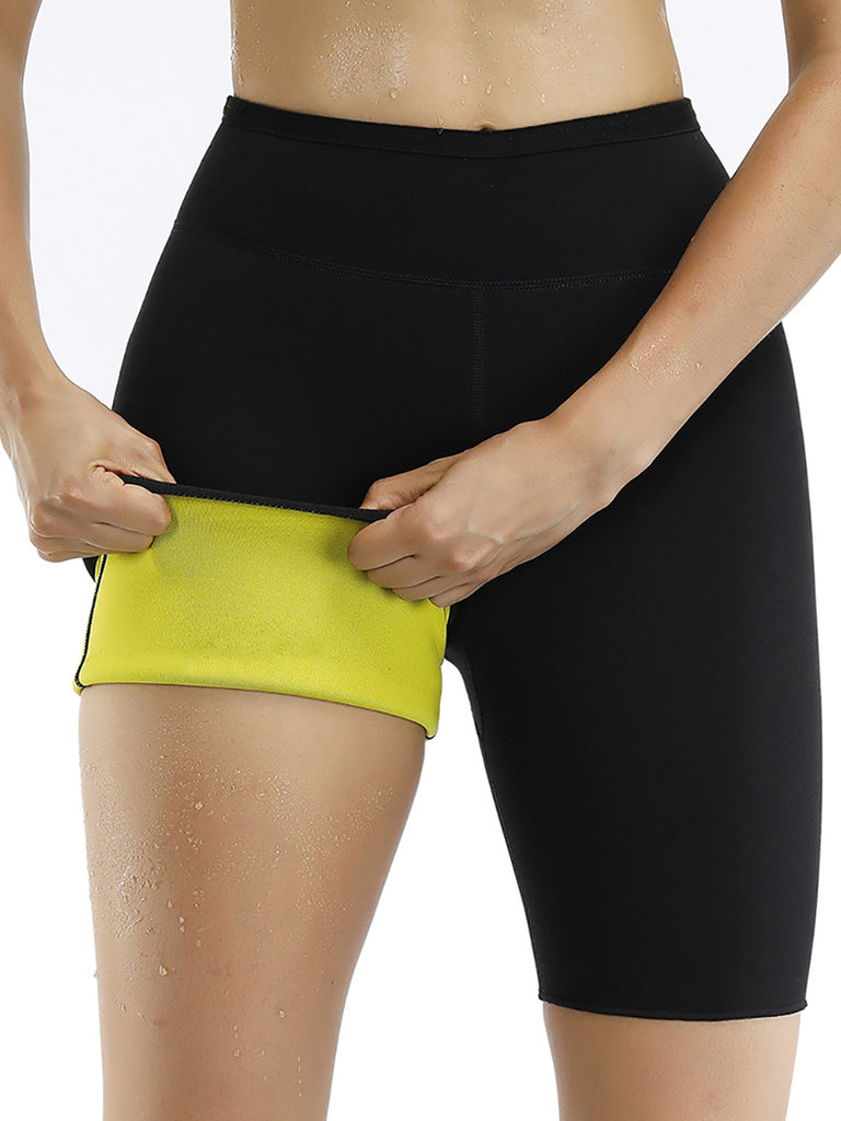 Chic High Waist Neoprene Shorts