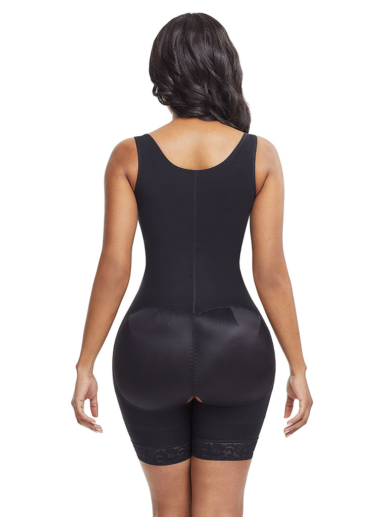 Open Bust Mid Thigh Extra High Waist Body Suit