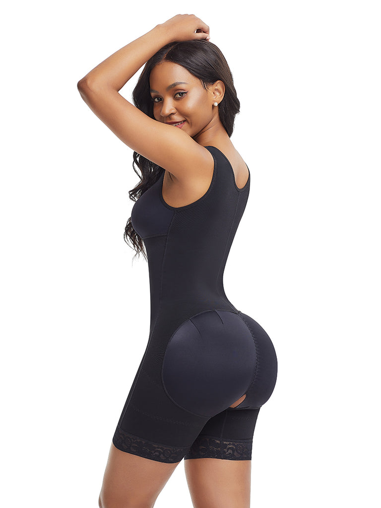 Extra Firm Padded Body Suit With Lace