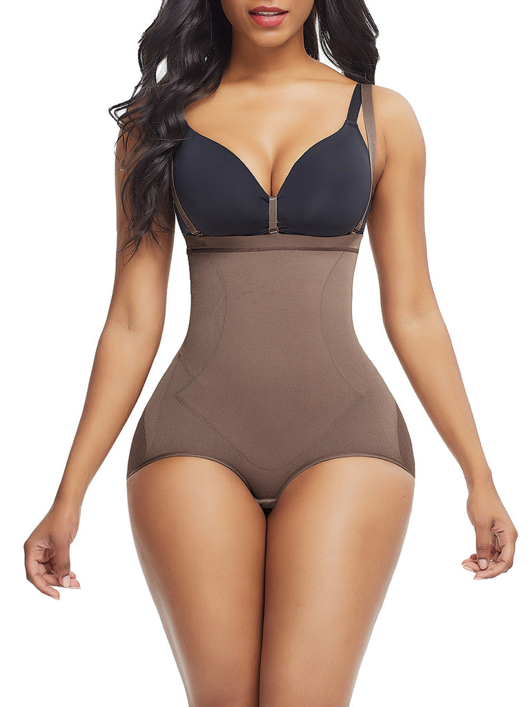 Strapless Sheer Panty Body Suit