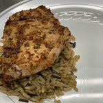 Roasted Garlic & Herb Chicken on Wild Rice