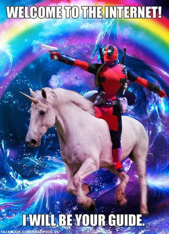 unicorn deadpool meme