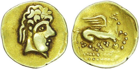 Quarter Pegasus stater from the 2nd century BC.