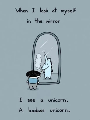 unicorn mirror meme