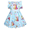 Short Sleeve Unicorn Dress