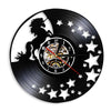 Unicorn Vinyl Clock