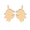 Gold Colored Unicorn Earrings