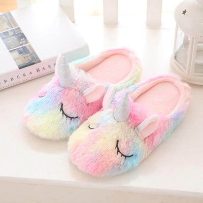 Multi Coloured Unicorn Slippers