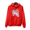 Hairy Unicorn Hoodie red