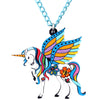 Majestic Winged Unicorn Necklace
