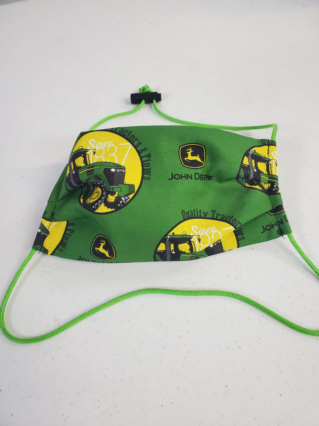 Professionally Hand-Made in USA Cotton Face Mask - John Deere