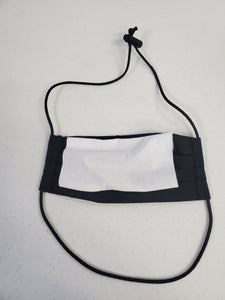 Professionally Hand-Made in USA Cotton Face Mask - Black
