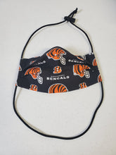 Load image into Gallery viewer, Professionally Hand-Made in USA Cotton Face Mask - Cincinnati Bengals