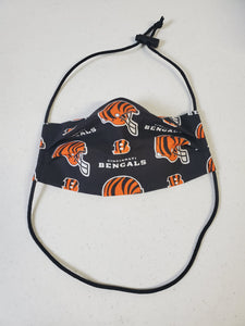 Professionally Hand-Made in USA Cotton Face Mask - Cincinnati Bengals