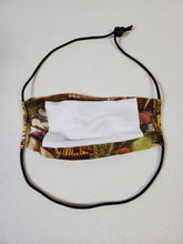 Load image into Gallery viewer, Professionally Hand-Made in USA Cotton Face Mask - Wildlife Print