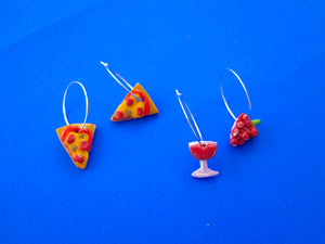 Baked by Lou polymer clay charm style hoop earrings, limited edition