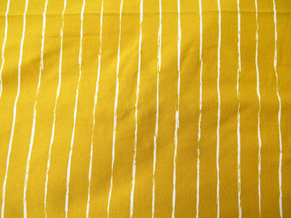 Hand sewn head wrap in mustard stripe stretch fabric