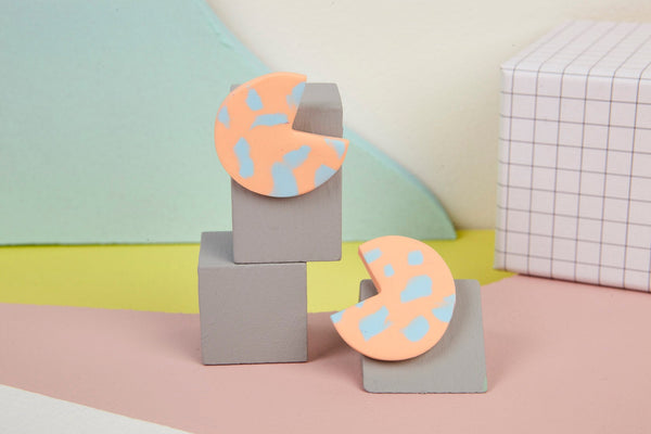 Statement polymer clay cutout studs by Baked by Lou
