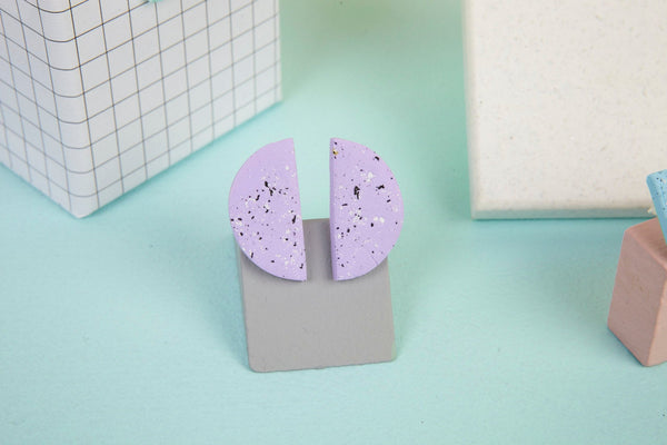 Statement pastel studs polymer clay by Baked by Lou