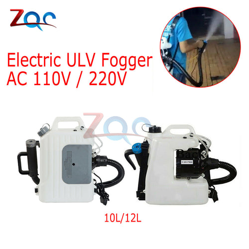 Backpack Electric Sprayer ULV Cold Fogger 10L/12L Disinfection Machine Vtomizer